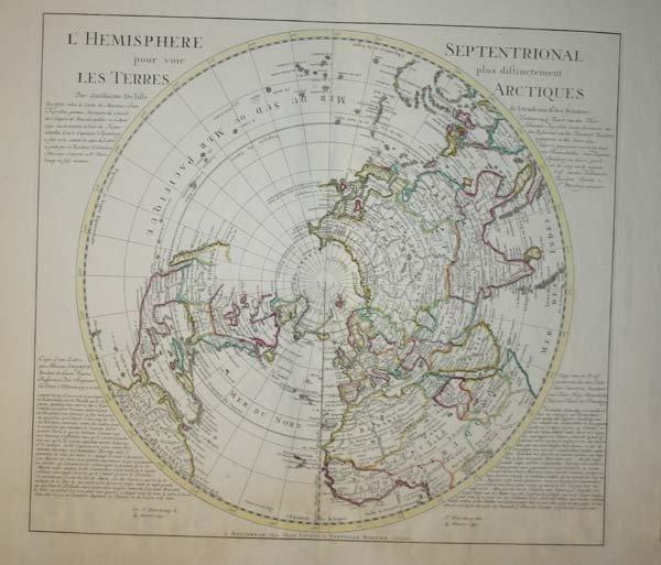 1170: De L'Isle, L'Hemisphere Septentrional, c.1740