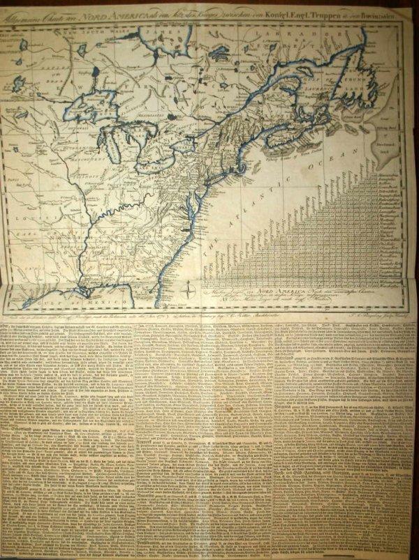 1234: Map of United States w/ German-language text, 177