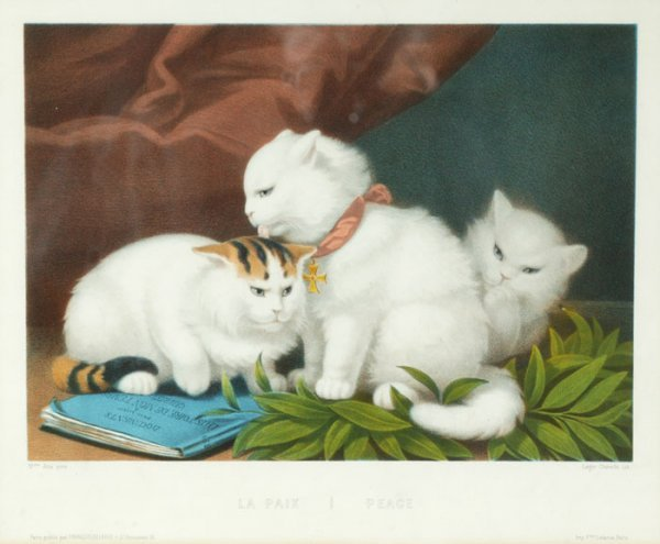4: after Aita, 2 color lithographs of kittens.