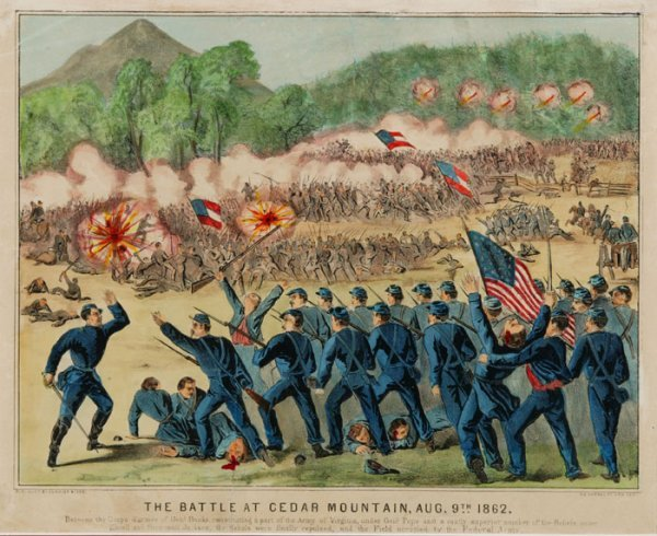 7: Currier & Ives: ''The Battle at Cedar Mountain...''