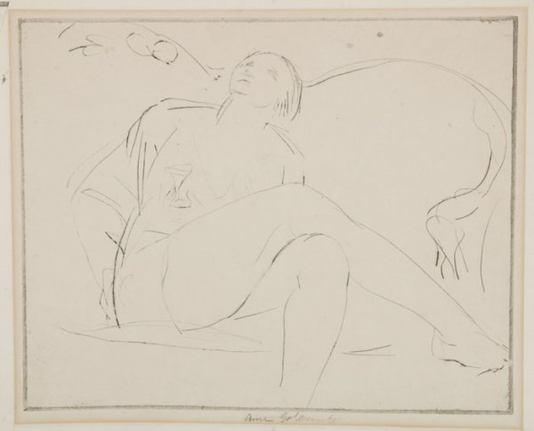 10: Goldthwaite: nudes, 2 lithos + 2 etchings.