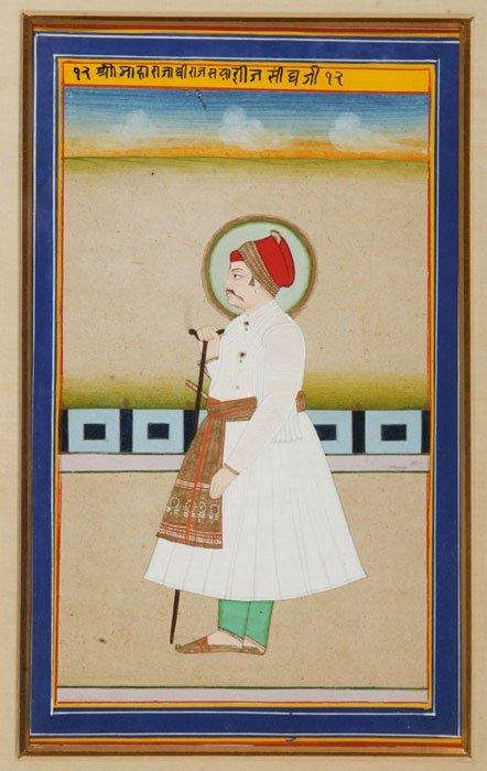 11: Gouache portrait, 12 Shri Maharaja Dheeraj Singh