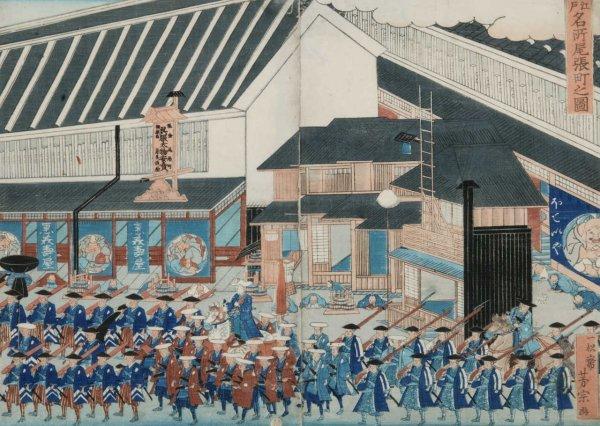 16: Yoshimune Utagawa ''Edo Meisho Owaricho no Zu'' 186