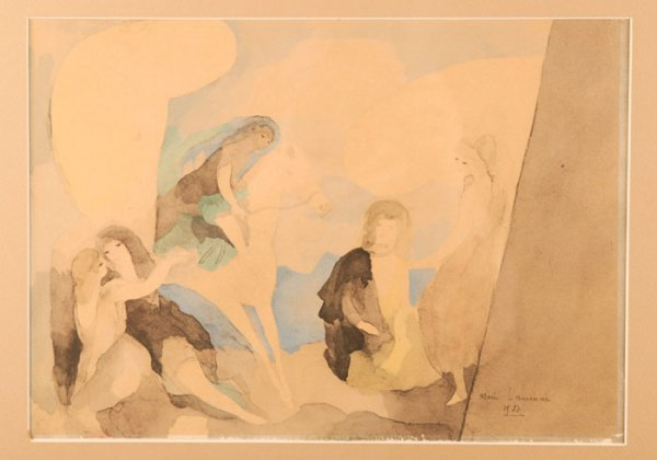 19: Marie Laurencin: Color print of 5 women, 1927.