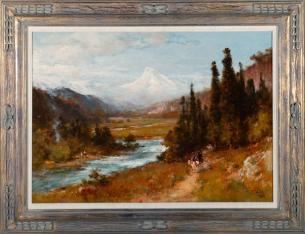 139: Thomas Hill. View of Mt. Hood. 1900 oil