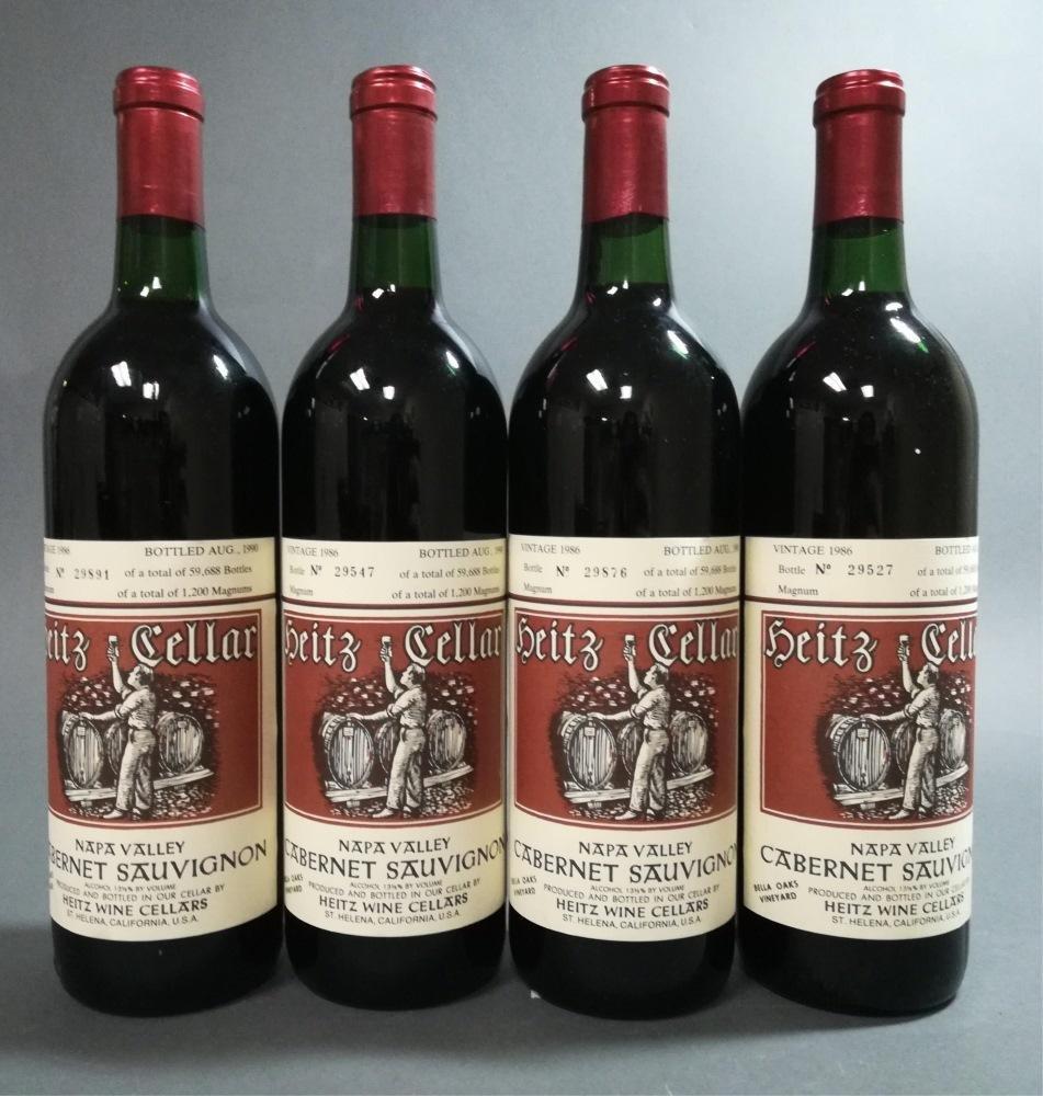 4 Heitz Cellars Bella Oaks Cab. 1986.