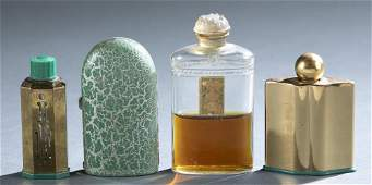 4 Coty Emeraude perfume bottles