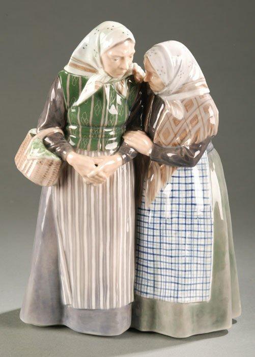 3012: Royal Copenhagen figurine, two old charmin