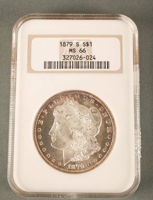 3517: 1879 Morgan Dollar NGC MS-66.