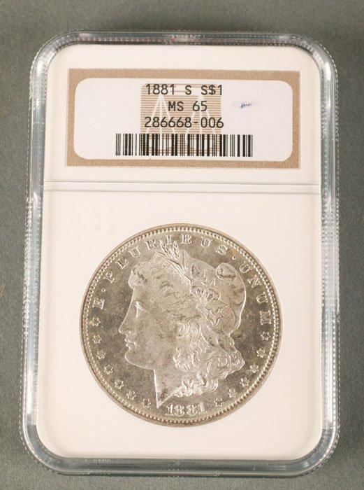 3536: 1881 Morgan Dollar  NGC  MS-65.