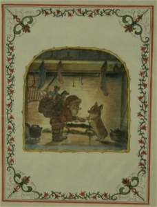 1166: Tudor, Tasha.  Original Watercolor Drawing
