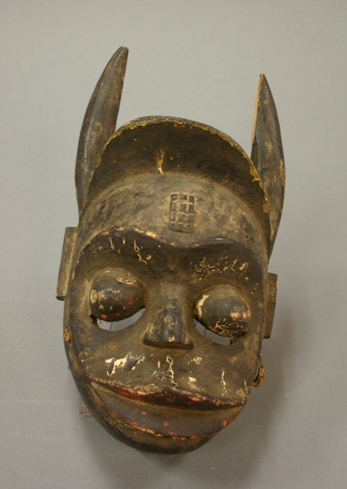 4007: African carved wood mask Bamana?