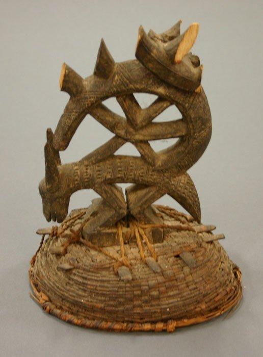 4012: Bamana Tji-Wara (Chi-Wara) headdress. 20t