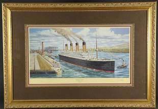 Ready for trials Titanic at Belfast April 1912