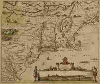 Visscher. Novi Belgii Novaeque Angliae... c.1656.