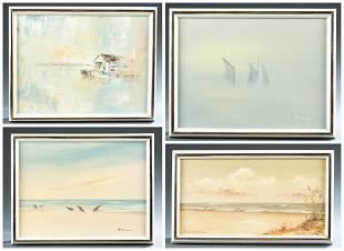 4 Herman Biemann Florida Scenes 20th century
