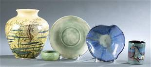 5 Pieces of American pottery