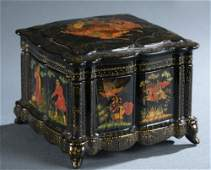 Palekh lacquer box.