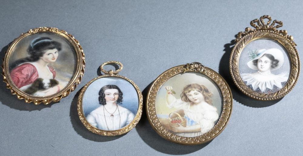 4 Portrait miniatures.