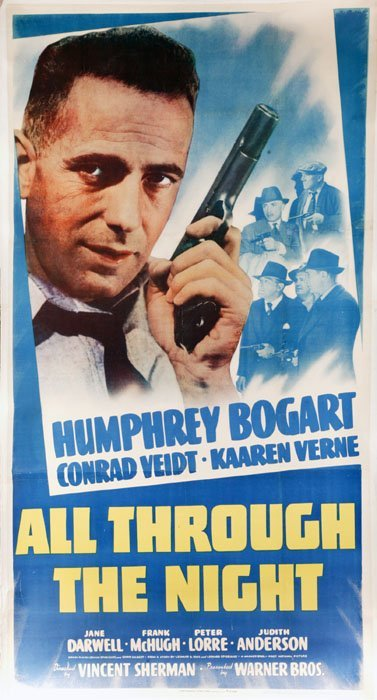 2001: Humphrey Bogart. All Through the Night. 3 s