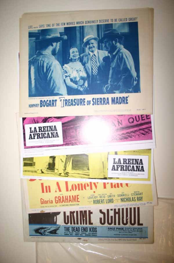 2004: 4 sets of 8 lobby cards for Humphrey Bogart movie