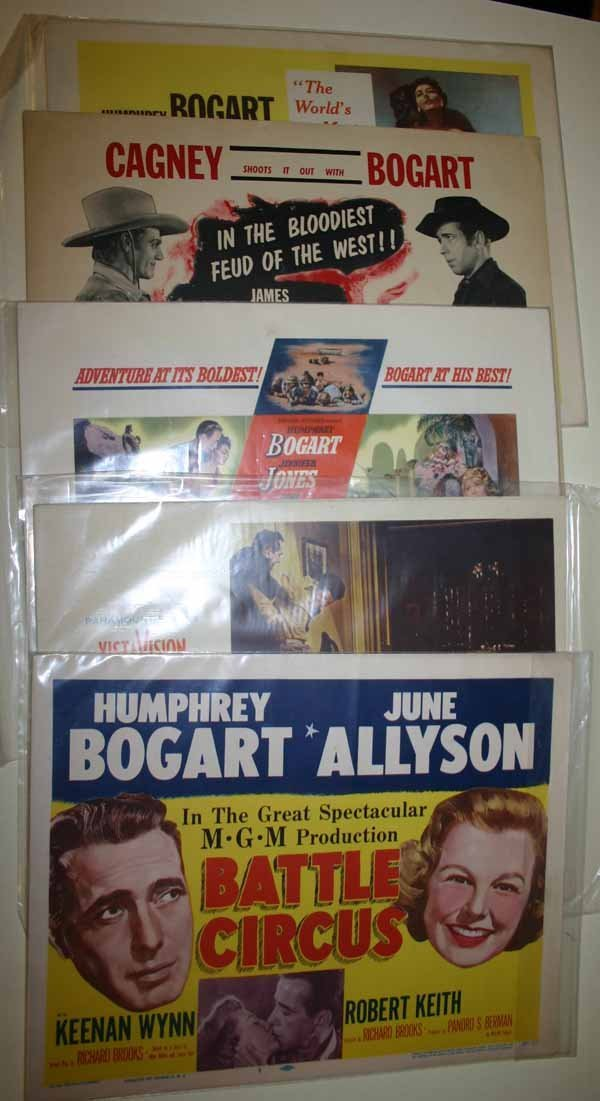 2005: Humphrey Bogart: 5 complete sets of 8 lobby cards