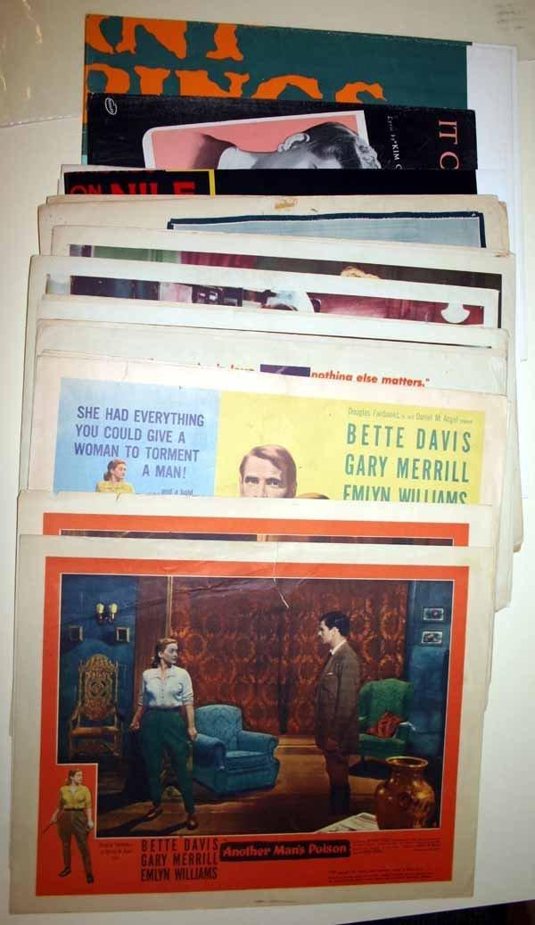 2011: Bette Davis: 3 movie posters + ~19 lobby cards.