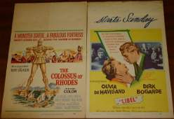 2222: 35 movie posters: Westerns, crime movies, c1940-6