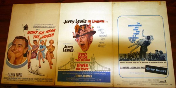 2225: Movie posters, 1940's-60's: ~33 window cards.