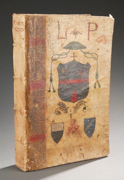 1004: TRACTATUS DE CENSIBUS, 1621. Painted covers.