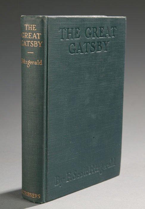 1046: F. Scott Fitzgerald THE GREAT GATSBY, 1925, 1st e