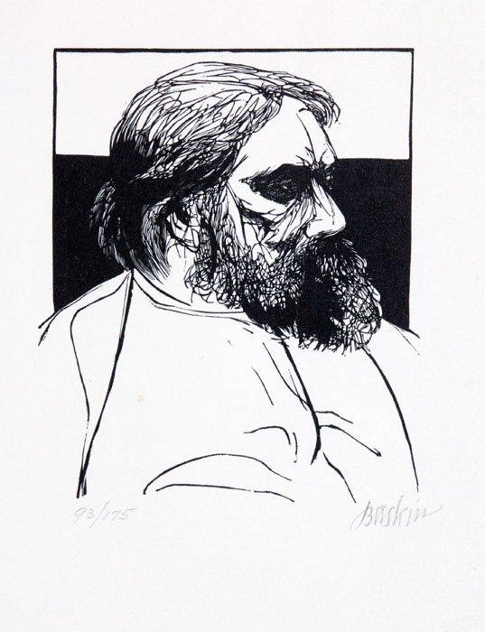 3: Leonard Baskin: 12 etchings/engravings #93/175.