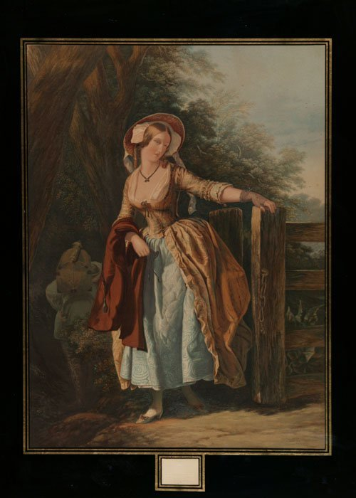 4: Baxter print after Corbould, ''The Parting Look''