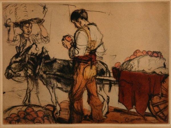 8: Armand Coussens, ''The Orange Cart,'' 1/100.