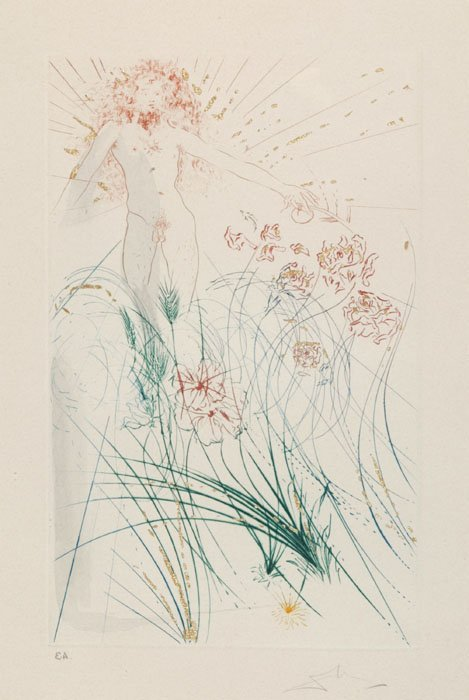 11: Salvador Dali, ''Garden of Eden,'' artist's proof.