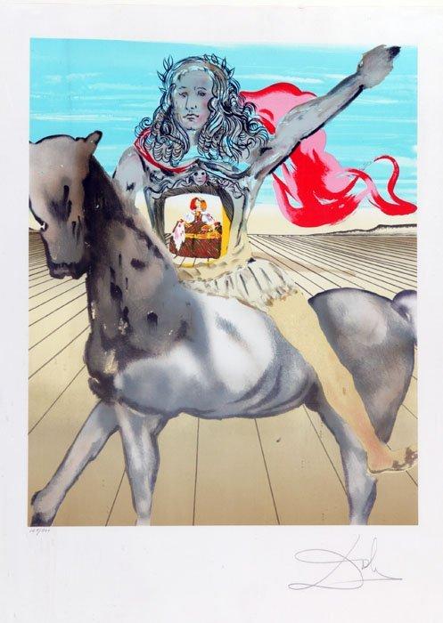 13: Salvador Dali, ''Chevalier Surrealiste,'' #127/700.