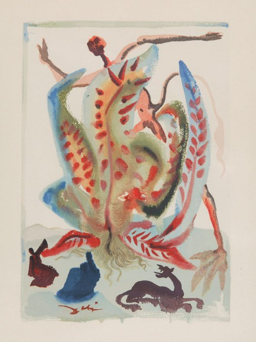 14: Salvador Dali: Wood engr from DIVINE COMEDY [1963]