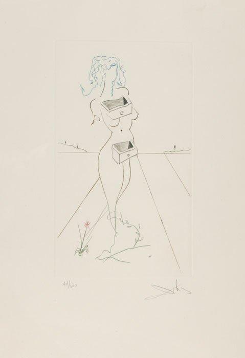 16: Salvador Dali ''Drawers of Memory'' [c. 1979] 44/30