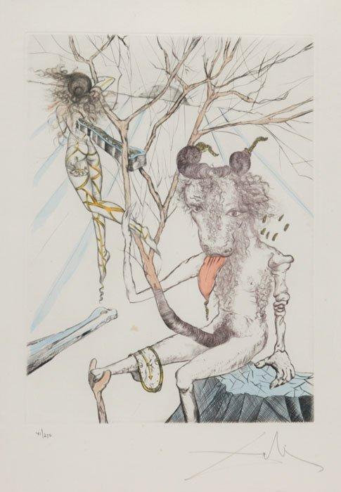 18: Salvador Dali, ''Evolution of Man'' etching, #41/25