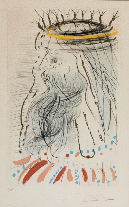 24: Salvador Dali, ''King Solomon,'' signed