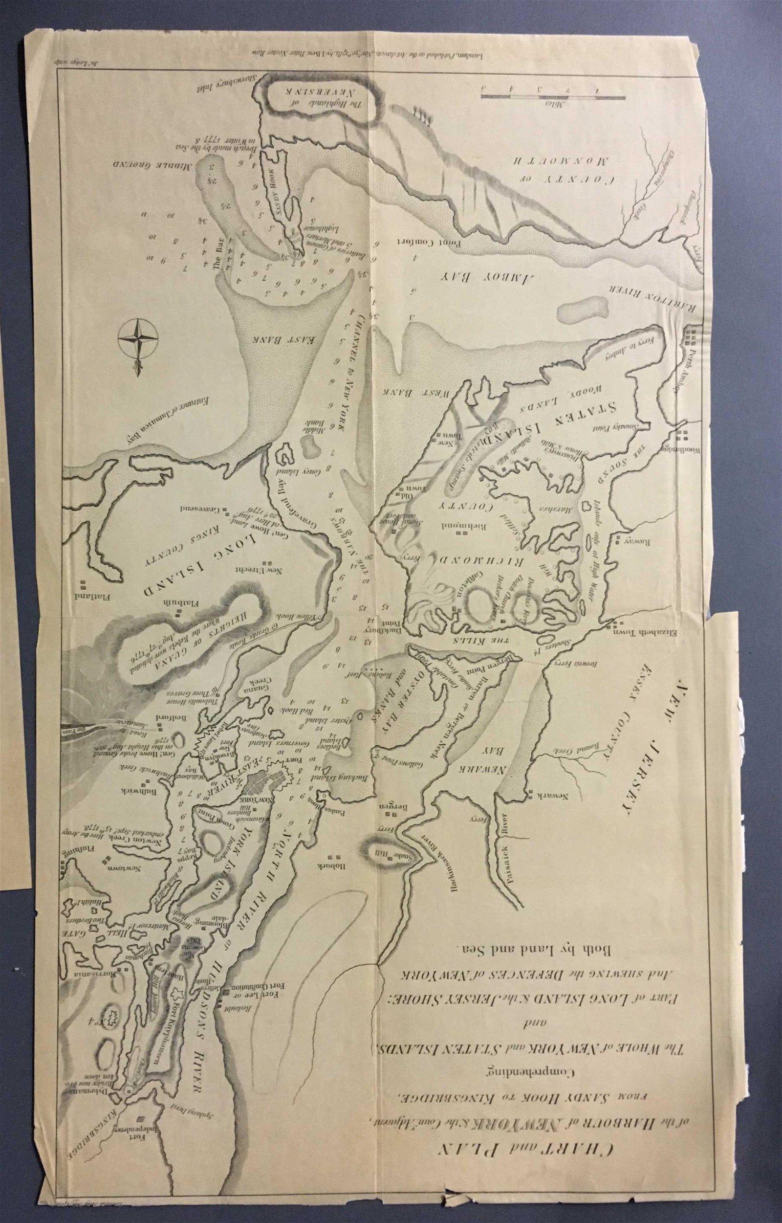 2 New York maps, Founding era, reprinted ca. 1870: