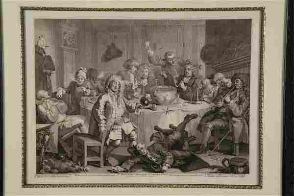 Hogarth. A Midnight Modern Conversation. c. 1732.