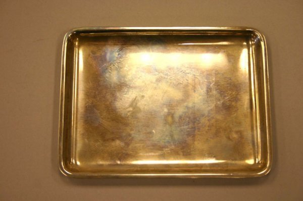 3020: Tiffany & Co small rectangular sterling tray.