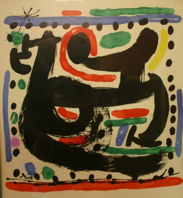 3024: Miro, Joan. Original Color Lithograph printed