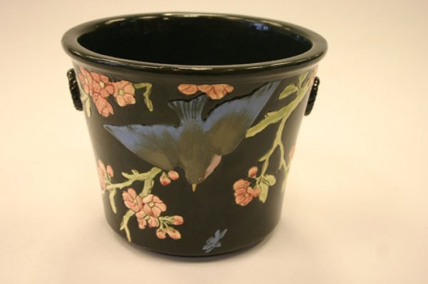 3050: Weller Rosemont planter decorated with bluebi