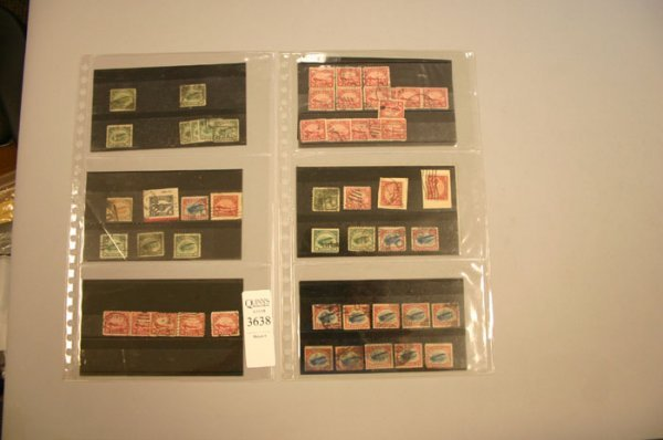 3638: many cancelled US air post stamps including
