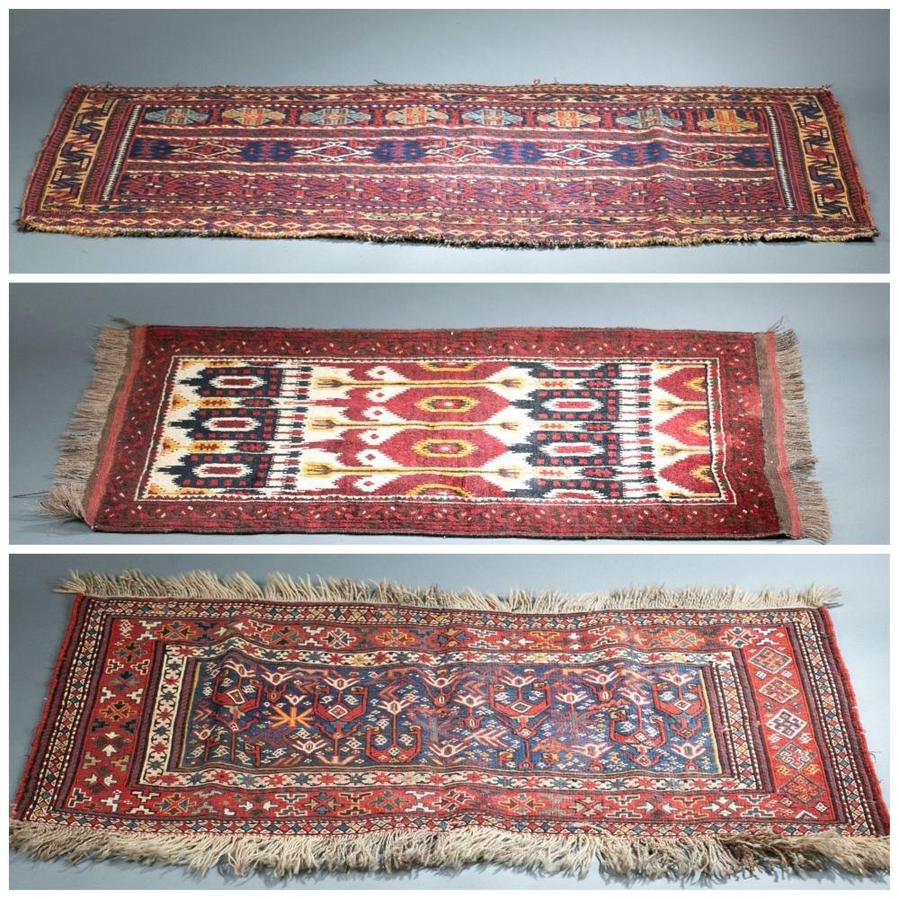 3 Afghan Baluch Rugs.