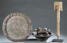 3 Nigerian Objects. 20th century.