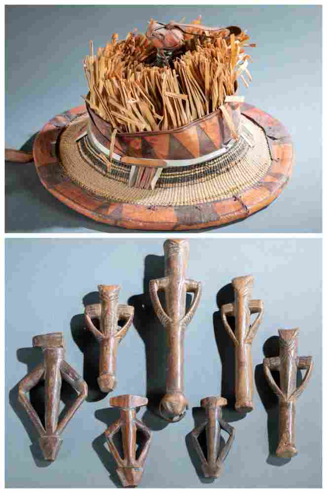 8 African Utilitarian Objects. 20th c.