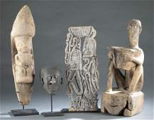 4 Indonesian Style Objects. 20th c.